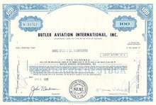Butler Aviation International Stock Certificate