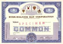 Byer - Rolnick Hat Corporation ( Now Resistol Hats )
