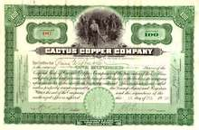 Cactus Copper Company 1910