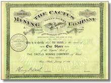 Cactus Mining Company - 1889