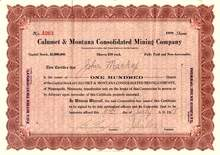Calumet & Montana Consolidated Mining Company 1918 - 1919