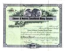 Calumet & Montana Consolidated Mining Company 1917