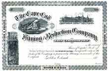 Cape Cod Mining and Reduction Company 1880's