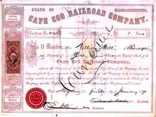 Cape Cod Railroad Company 1871 - Massachusetts
