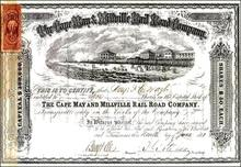 Cape May & Millville Rail Road Company 1871