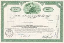 Carte Blanche Corporation - Credit Card Company