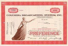 CBS Columbia Broadcasting System Stock NICE