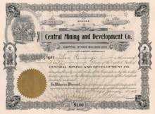 Central Mining and Development Company 1907 - Arizona - Mining Scam