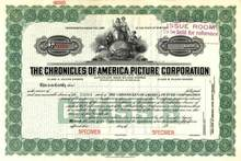 Chronicles of America Picture Corporation 1923