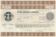Cities Service Company Zero Coupon Bond