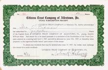 Citizens Trust Company of Allentown, Pa 1927