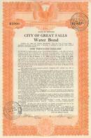 City of Great Falls Water Bond 1930