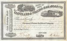 Cleveland & Toledo Railroad - 1862 - Civil War Era