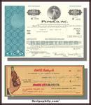 Pepsi Challenge Combo Pak - Coke Check 1930's PLUS Pepsi Stock Certificate