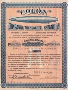 Zeppelin - Spanish Air Transportation Company 1928