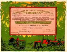 Colonizadora De La Guinea Continental, S.A. Spain 1930