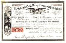 Colorado Gold Mining Company of Philadelphia 1870