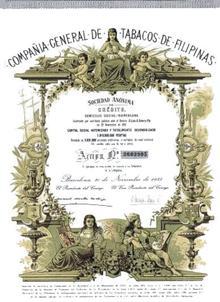 Compania General De Tabacos De Filipinas - Founded 1881
