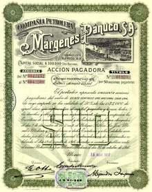Compania Petrolera Margenes del Panuco, S.A. 1917 - Mexico