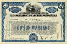 Commonwealth & Southern Corporation 1933 (Southern Company )