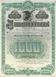 Comstock Tunnel Company 1889