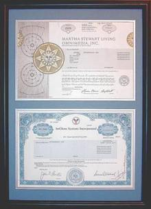 Contemporary Frame - Two Certificates ( Frame Size 15 3/4