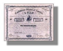Confederate States of America Loan 1863 - Stonewall Jackson Vignette