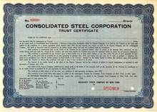 Consolidated Steel Corporation ( Major Shipbuilder )