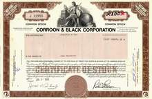Corroon & Black Insurance Corporation 1978