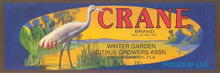 Crane Brand Label