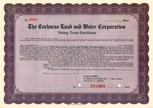 Cucharas Land and Water Corporation 1915