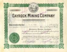 Dayrock Mining Company 1937 - Idaho