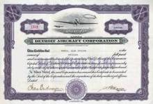 Detroit Aircraft Corporation - Dirigible in Vignette - ( Formally Ryan Aircraft )