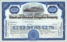 Detroit and Cleveland Navigation Company - City of Detroit Steamer Vignette