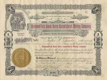 Diamondfield Black Butte Consolidated Mining Company - Tonopah, Nevada 1905-1907