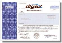 Digex Internet Hosting Service Stock Certificate