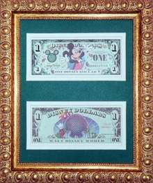 Disneyworld 2000 Money - Framed