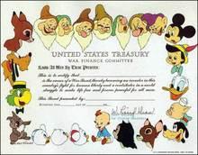 Disney Character War Bond - States Treasury War Finance Committee 1944