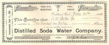 Distilled Soda Water Company - 1893 - Oakland, California