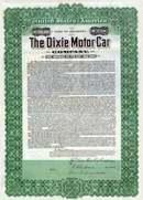 Dixie Motor Car Company 1911 - Gold Bond