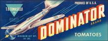 Dominator Brand Tomatoes Label