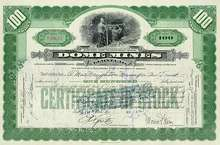 Dome Mines Limited Stock Certificate 1940's
