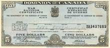 Canada - Dominion of Canada War Savings Certificate 1944