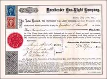 Dorchester Gas Light Company 1871 - Boston, Mass. (Early Keyspan Company)