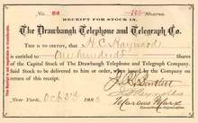 Drawbaugh Telephone and Telegraph Co. 1883 - New York