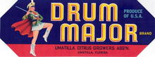 Drum Major Brand Citrus Label