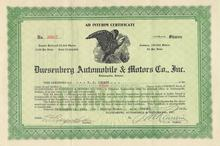 Duesenberg Automobile & Motors Company, Inc. 1923