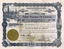 Duluth Wyoming Oil Company 1918