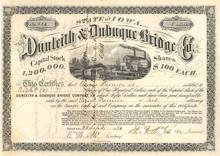 Dunleith & Dubuque Bridge Company 1874 - Iowa