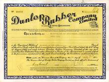 Dunlop Rubber Company - Famous Tire company